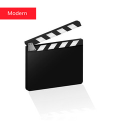 Clapper board 3d realistic clack desk vector