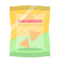bag of chips isolated icon vector image