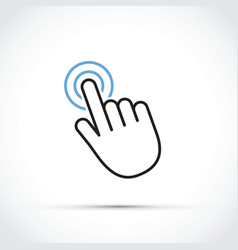 Mobile phone touch screen vector