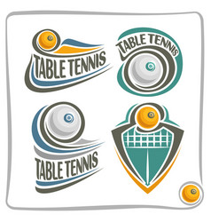 Logo table tennis ball vector