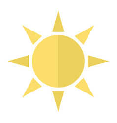 Sun flat icon weather and sunshine vector