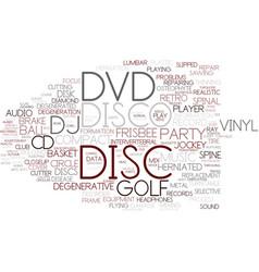 Disc word cloud concept vector
