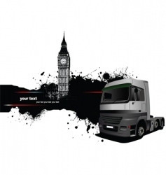 truck and london vector image