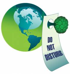 do not disturb the environment vector image