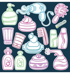 beauty icons vector image