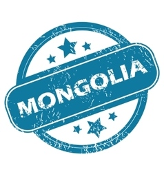 Mongolia round stamp vector