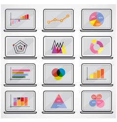Business data market elements vector