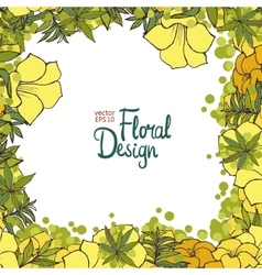 Floral frame and place for your text vector