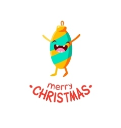 Christmas toy cheerful card vector