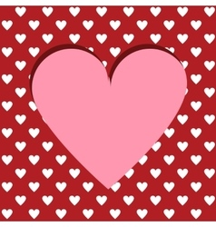 Cutted heart background vector