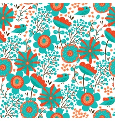 pattern with floral backgroung vector image