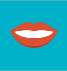 Feemale mouth isolated vector