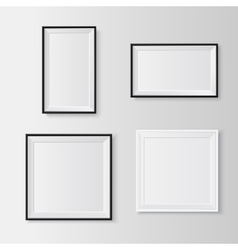 Blank picture frames set vector
