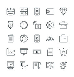Finance cool icons 2 vector