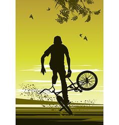 Extreme biker vector