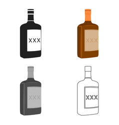 Alcohol icon cartoon singe western icon from the vector