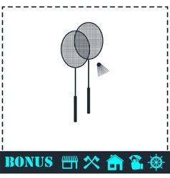 Badminton icon flat vector image