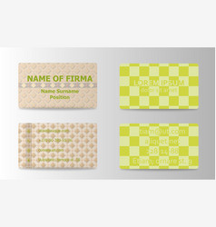 business card creative abstract visit card vector image vector image
