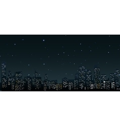 City skylines at night vector image
