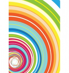 colorful rainbow spiral vector image vector image
