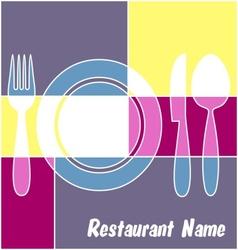 Colorful restaurant menu vector image
