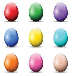 Colourful Easter Eggs vector image vector image