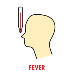 Fever or heat logo or icon template vector