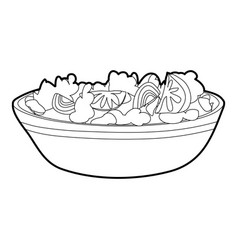Fruit salat icon outline style vector