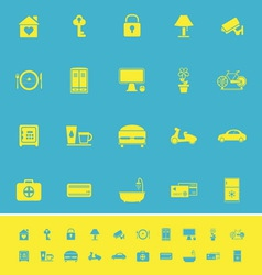 General home stay color icons on blue background vector image vector image