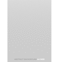 Gradient White Dots on Gray Background A4 size vector image vector image