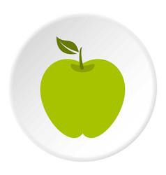 Green apple icon circle vector