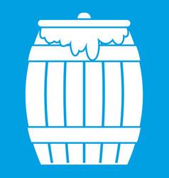 Honey keg icon white vector