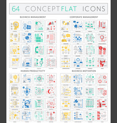 infographics concept icons of business management vector image