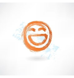 Laugh grunge icon vector