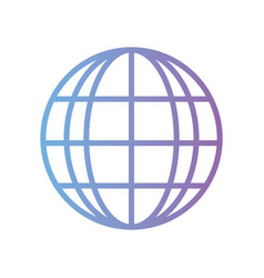 line global connection digital technology vector image vector image