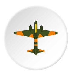 Military plane icon circle vector