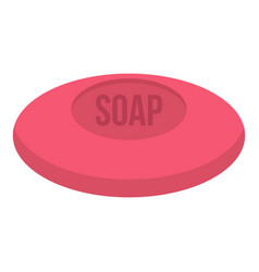 Pink soap icon isolated vector