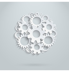 round gears infografhic vector image vector image