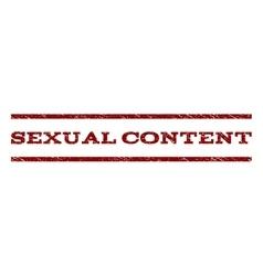 Sexual content watermark stamp vector