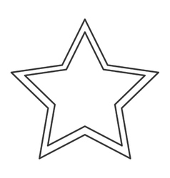 Single star icon vector