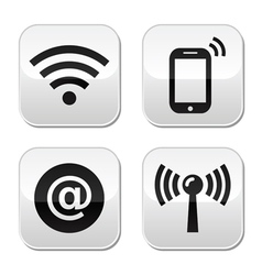 Wifi network internet zone buttons set vector image vector image