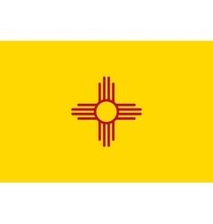 Flag of New Mexico in correct size colors vector image