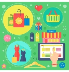 Modern flat design beauty and shopping concept vector image