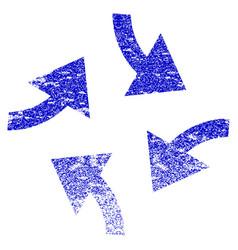 swirl arrows grunge textured icon vector image