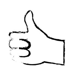 Hand man ok like gesture icon image vector