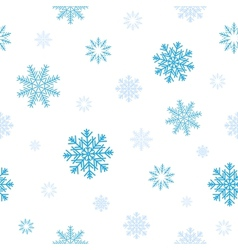 Blue snow pattern vector
