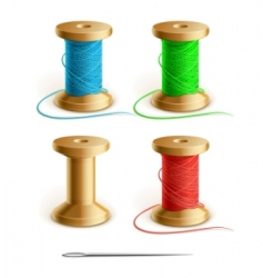thread and needle vector image
