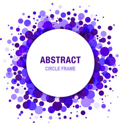 Violet abstract circle frame design element vector
