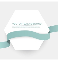 Color ribbons isolated on white background vector