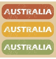 Vintage australia stamp set vector